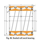 Timken Sealed roll neck Bearings Bore seal 592 O-ring