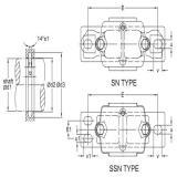 SKF SNW 3038x6.13/16 Manguitos de fijación, dimensiones en pulgadas